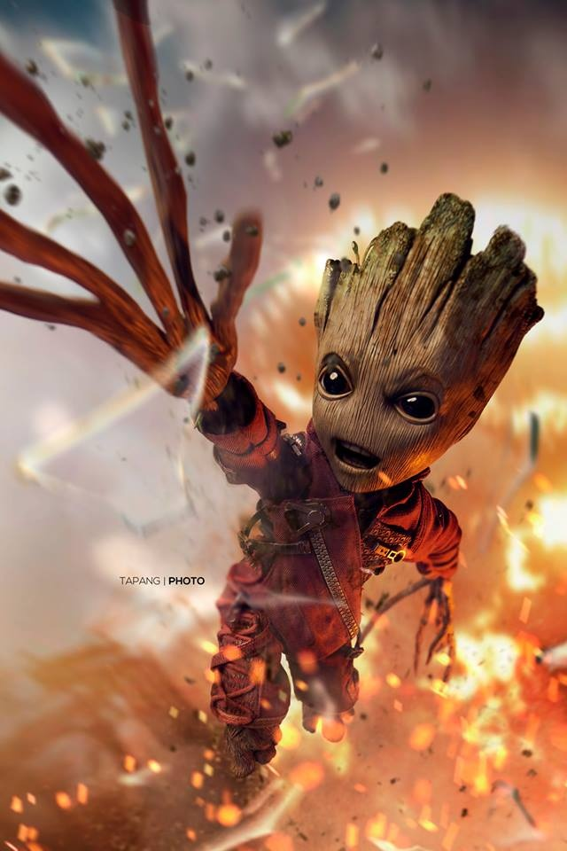 The Unstoppable Groot by Pete Tapang