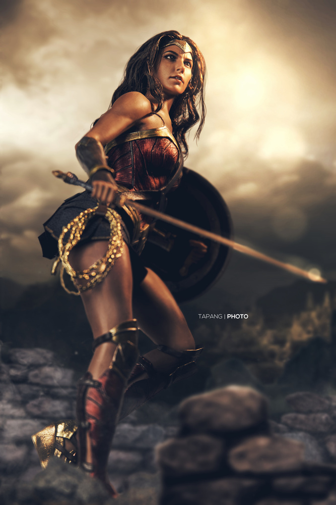 Dreams of Themyscira by Pete Tapang