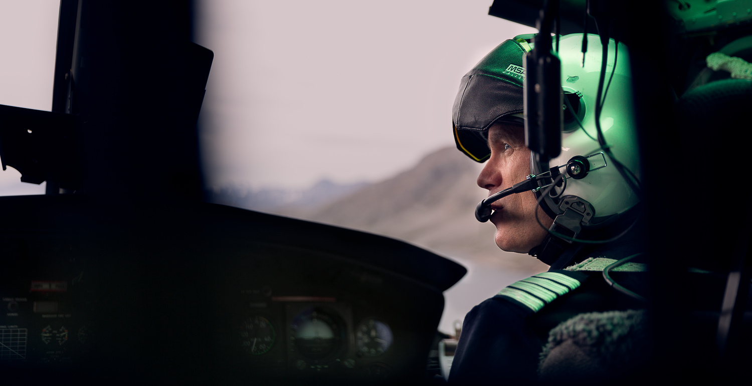 Helicopter pilot by Emil Stach