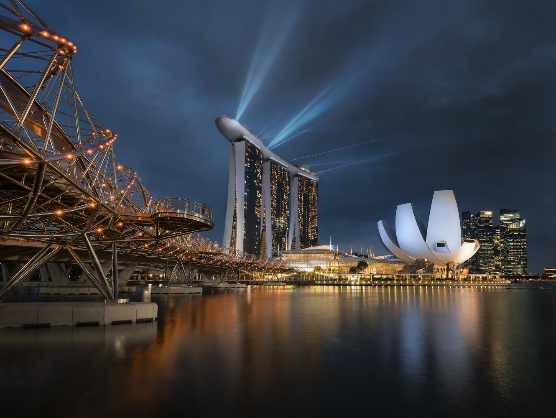 Marina Bay Light Show by Aritz Atela