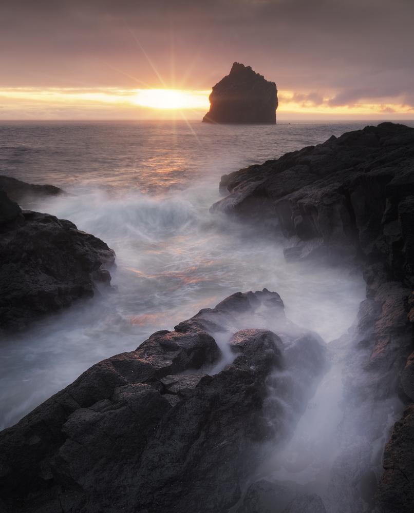Sunset at Reykjanesta by Aritz Atela