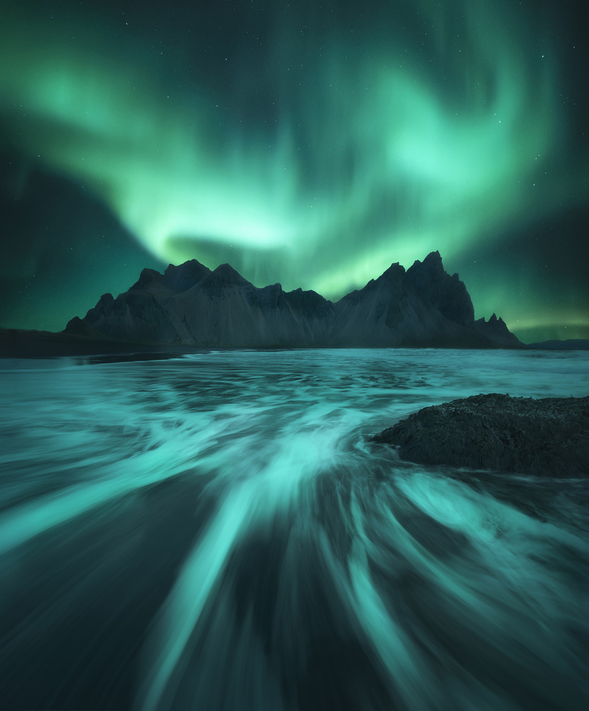 Green Spell in Vestrahorn by Aritz Atela