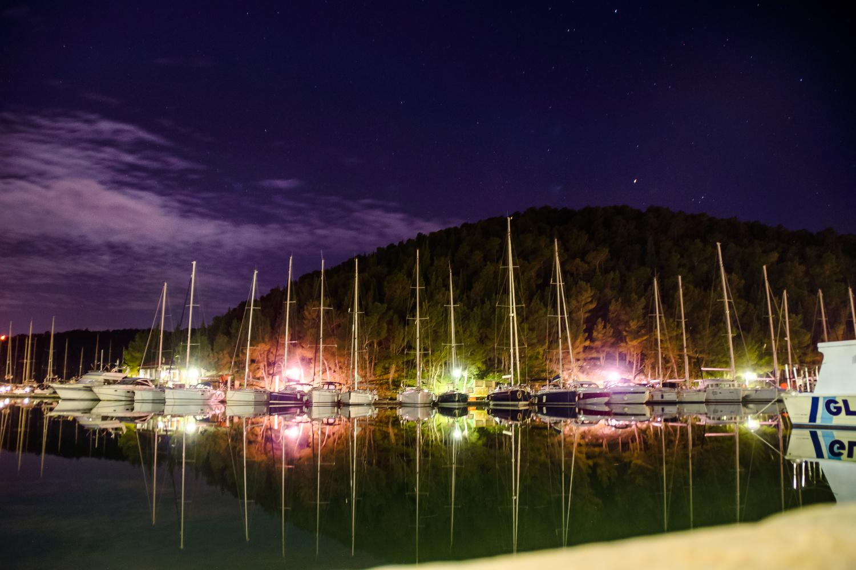 Long Exposure boat harbour, Croatia by Michael Scott