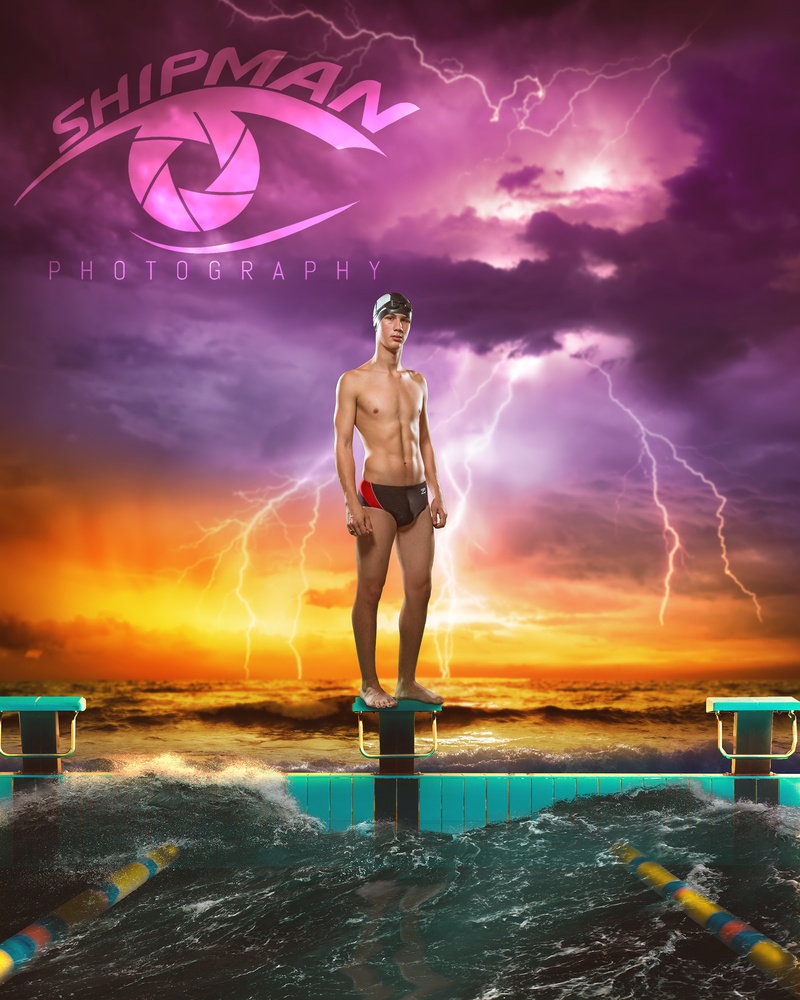 Swimmer on the Storm by Gregg Shipman