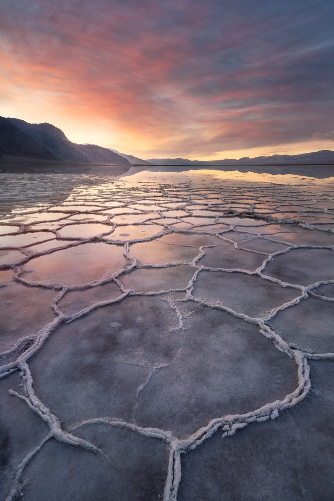 Badwater reflections by Anand Goteti