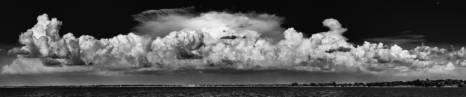 Storm Clouds Over Lake Hefner by Don Risi