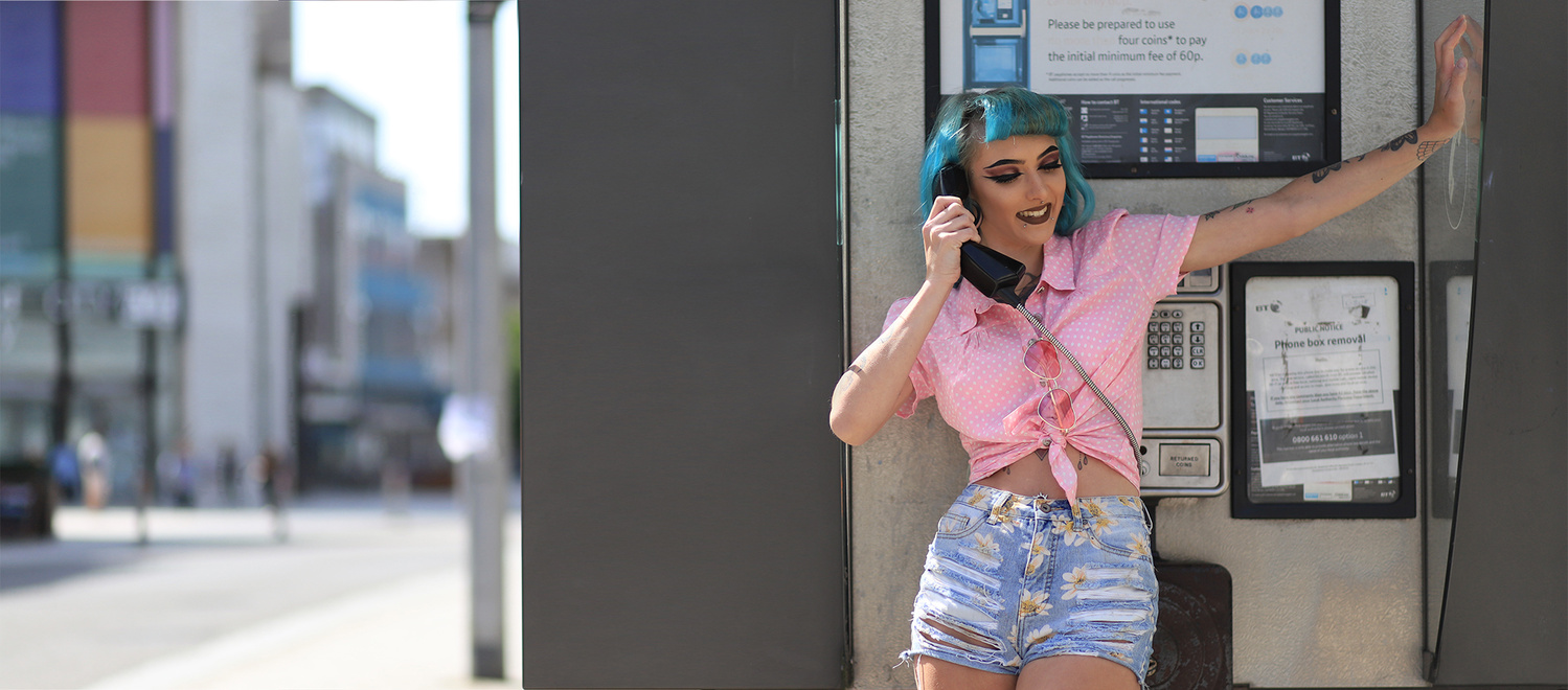 Girl on the phone by tony picture