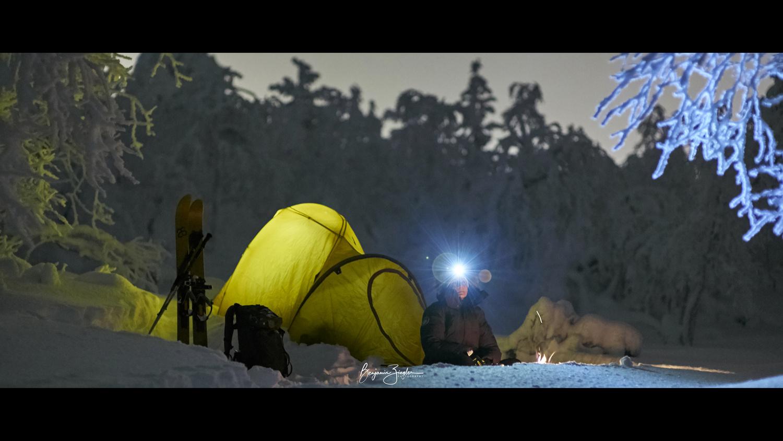 Camping in Lapland by Benjamin ZIEGLER