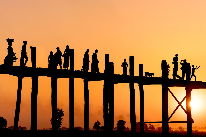 Sunset at U Bein Bridge by Jani Uljas