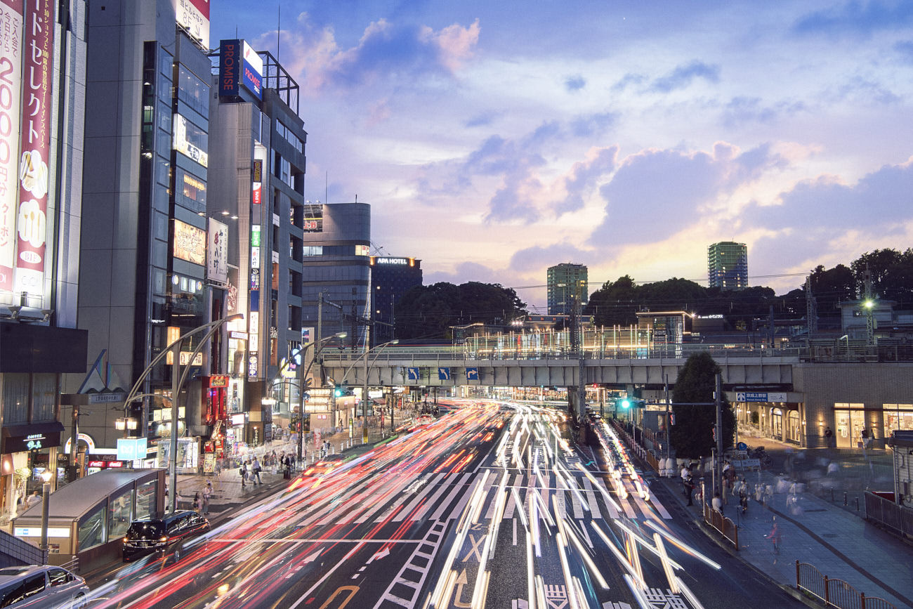UENO station in Tokyo by Frank Withers