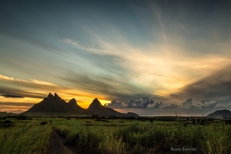 Trois Mamelles Mountain, Mauritius Island.  by Griffiths Clark