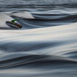 River surfing by Loic Romer