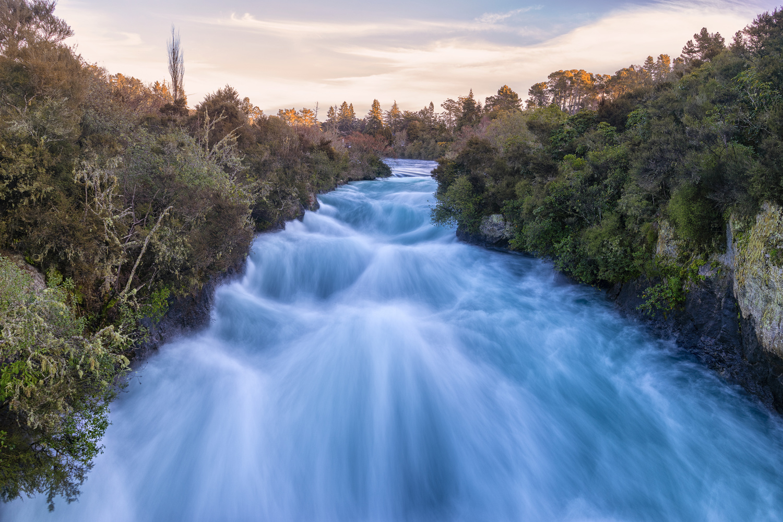 Huka Falls, Taupo, NZ by Blago Hristovski