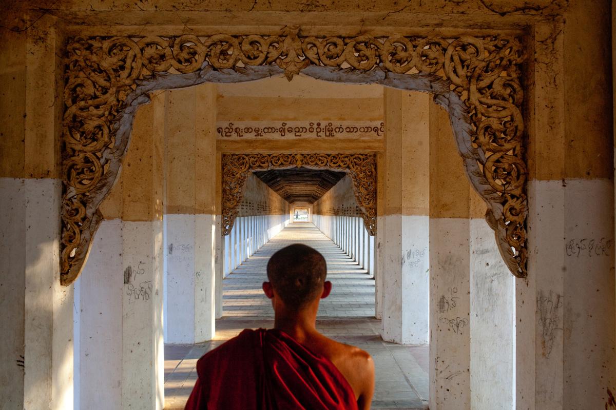 Bagan Monks by Justin Mott