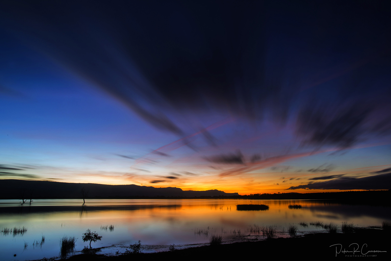 Sunset over Lake Fyans  by Peter Cannon