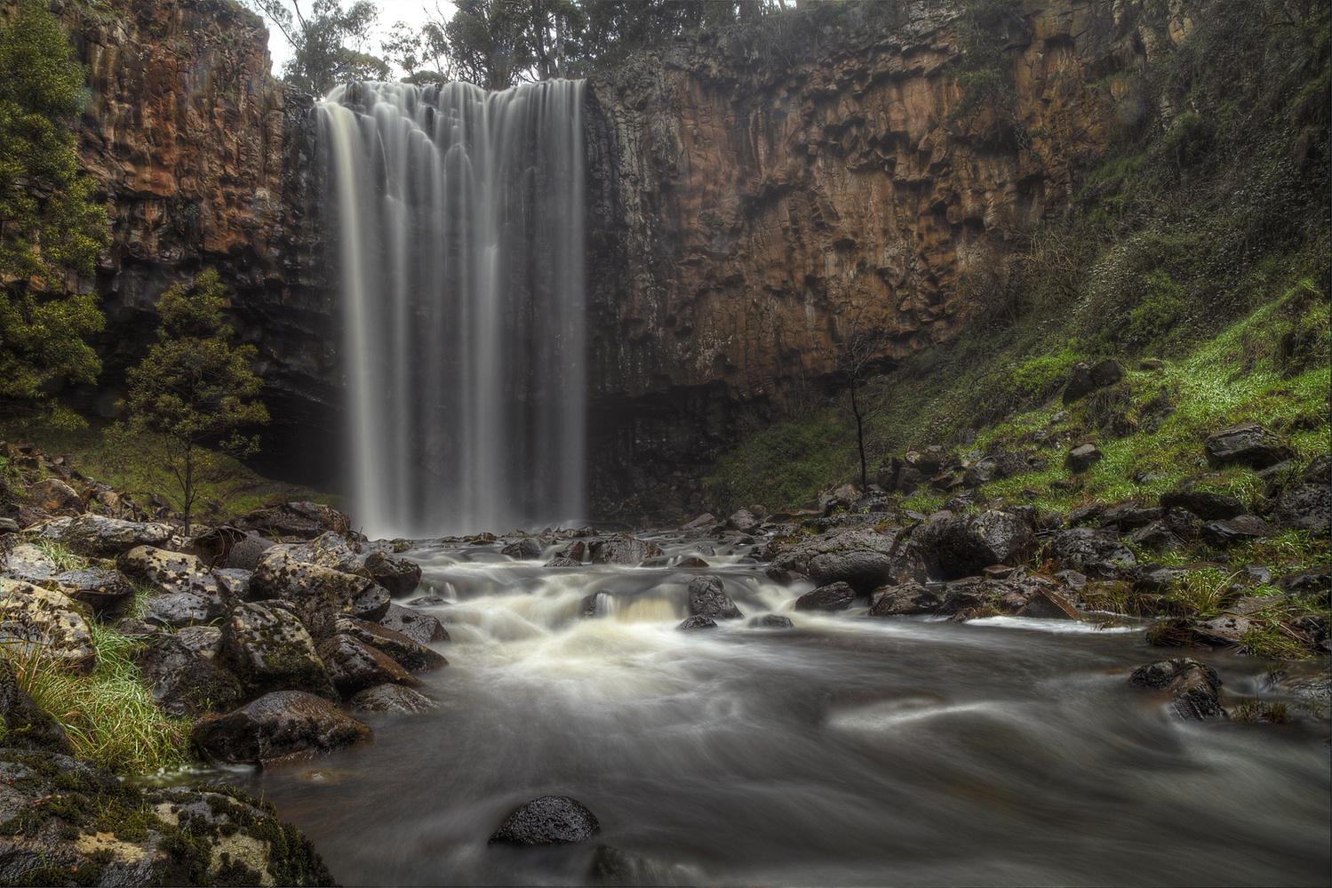 Trentham Falls, Victoria, Australia. by Peter Cannon