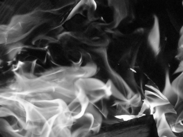 Black and White Fire by Keegan Doughty