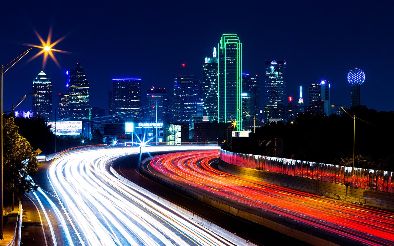 Dallas at Night by Igor Pavlenko