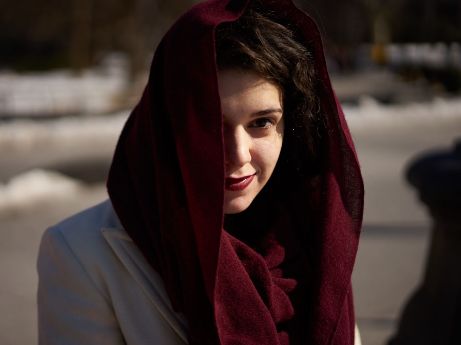 Street Portrait: The Maroon Scarf by Michael Comeau