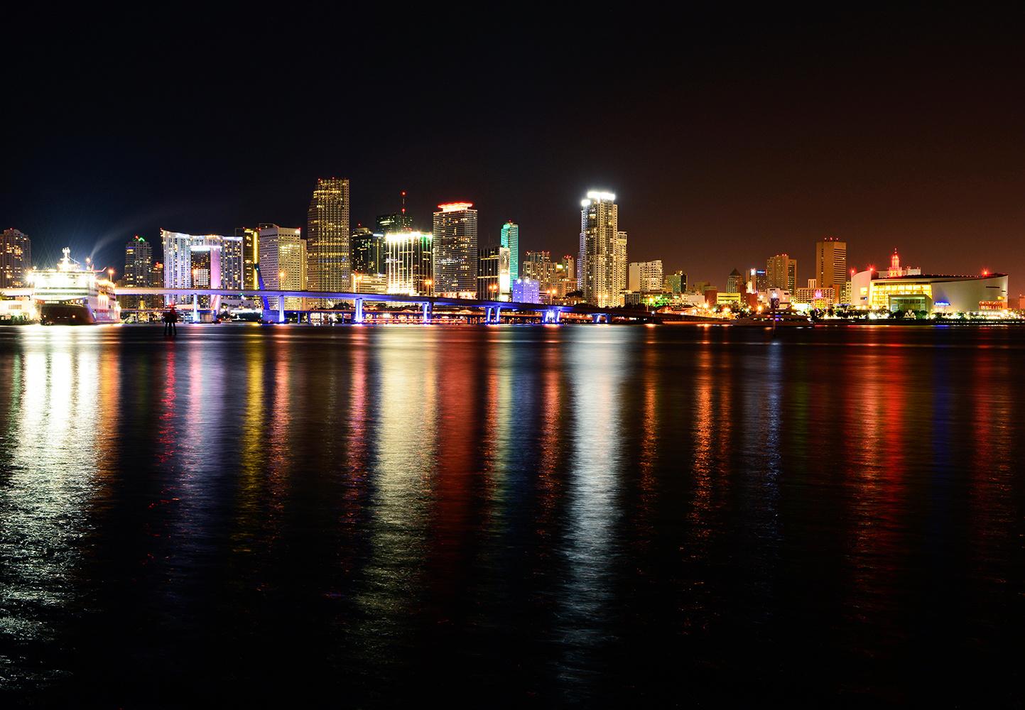 Miami Skyline by Adriana Avello