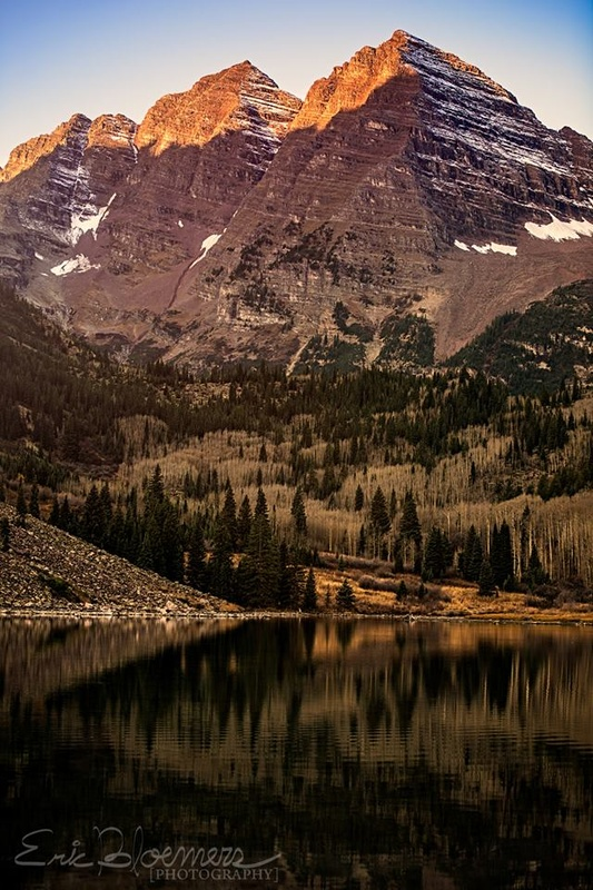 Morning at the Maroon Bells by Eric Bloemers