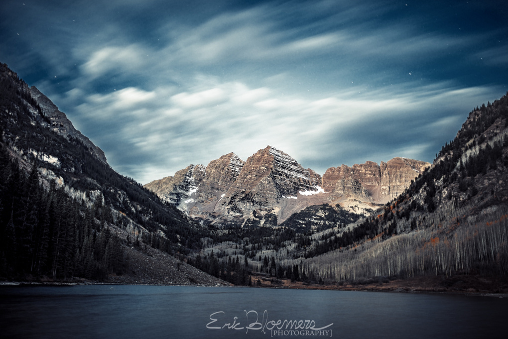Pre sunrise at the Maroon Bells by Eric Bloemers
