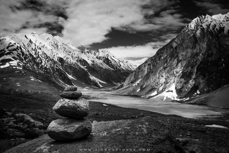 Chorten in Zanskar by Siddhartha De