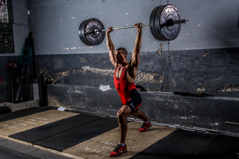 Blast - weightlifter 1 by Dean Perlmutter