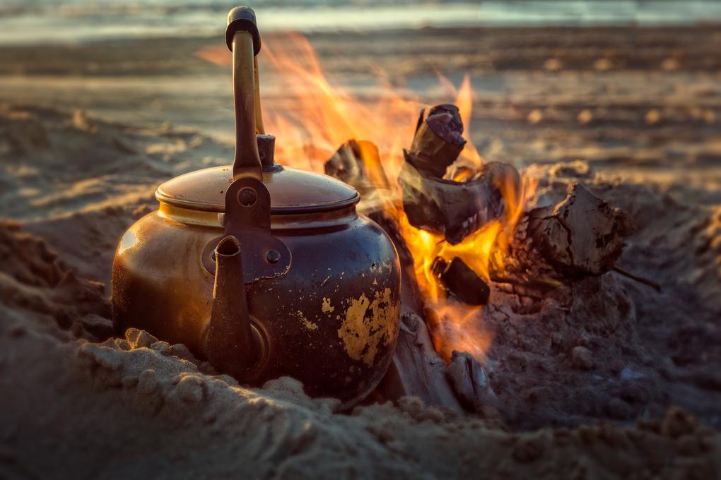 Camping Tea by Ashraf Yassin
