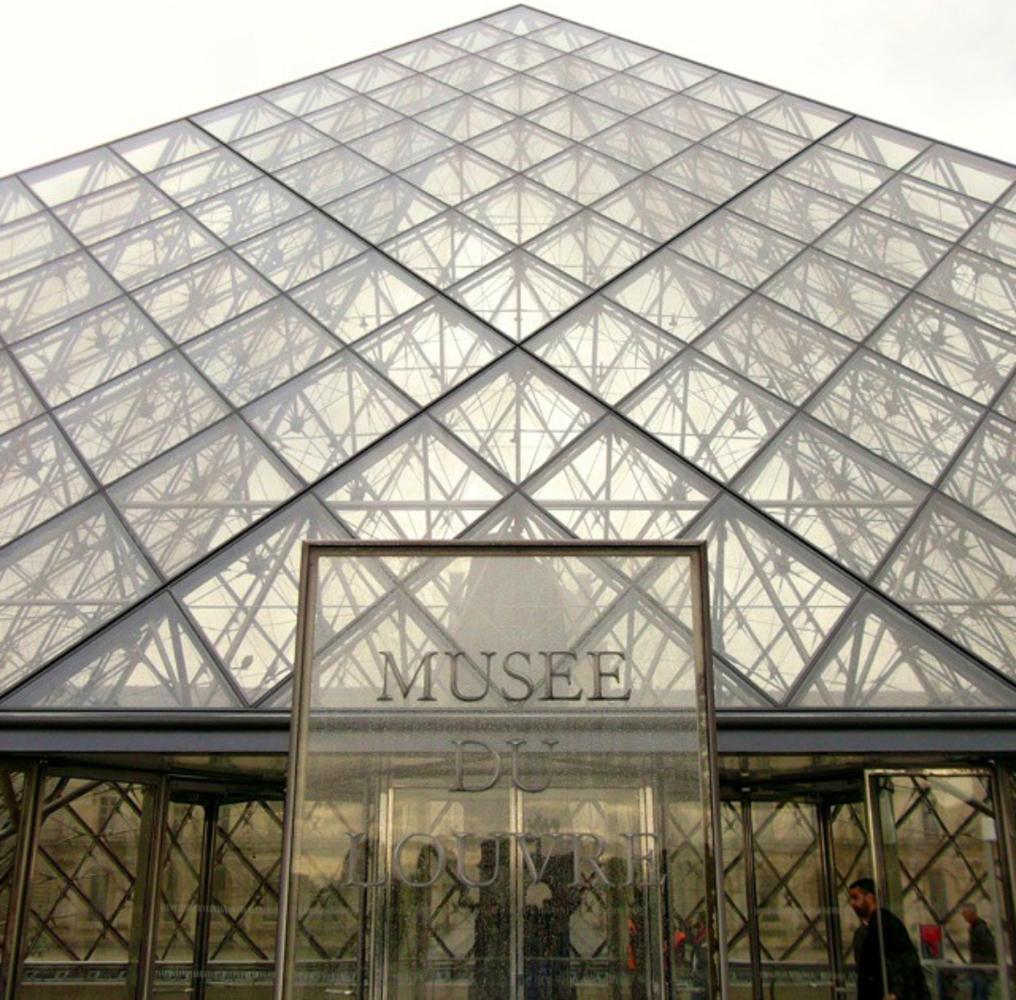 Louvre Close-up by Daniel C