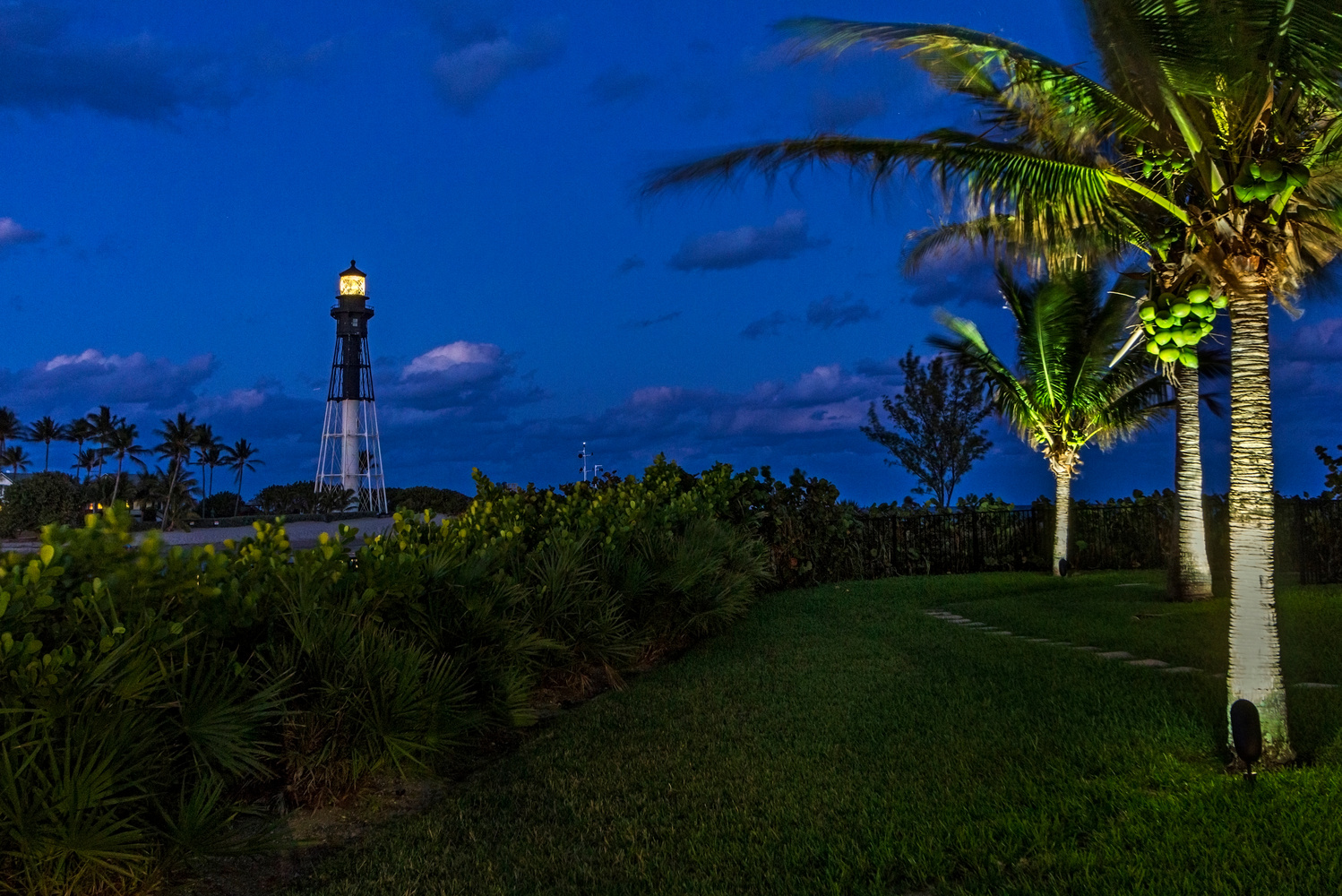 LIghthouse Point Night by Andrew Panayotoff