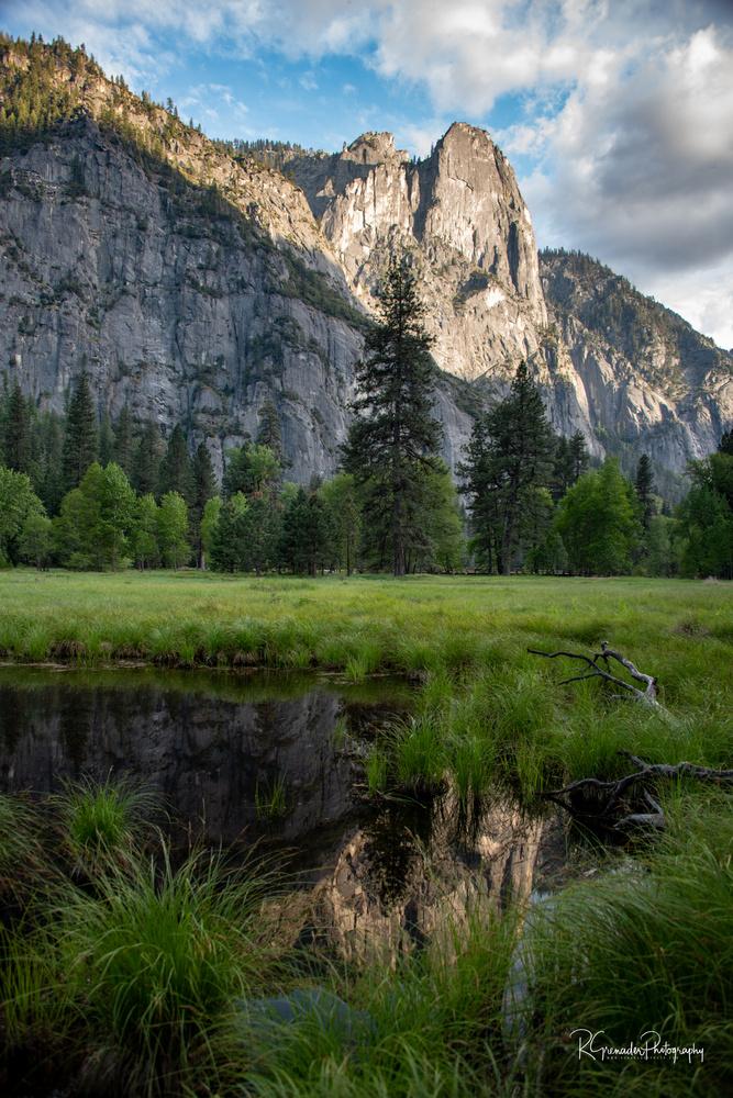 Yosemite Meadows and Monolith by Robert Grenader