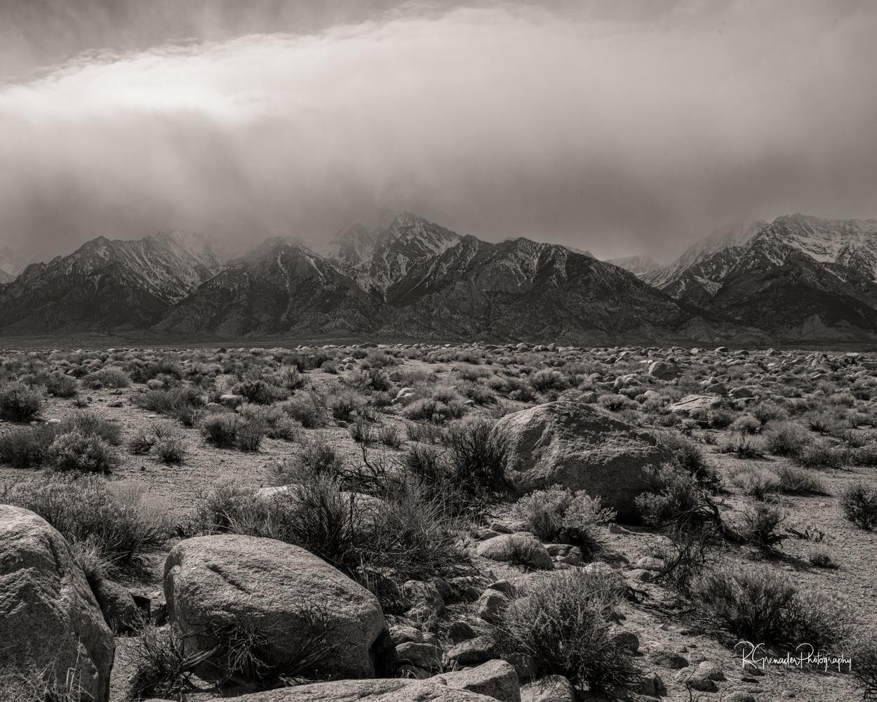 Mt Williamson - Building Storm by Robert Grenader