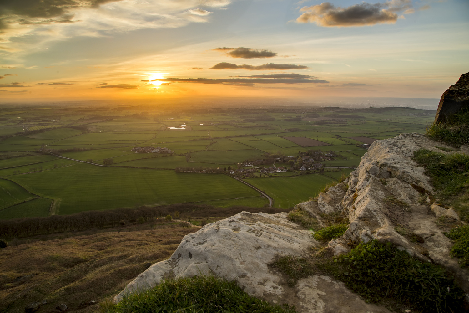 Sunset from the top of Roseberry Topping by Chris Slasor