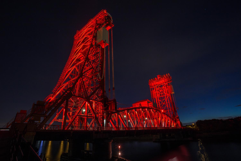 Newport Bridge in Middlesbrough, Teesside, UK by Chris Slasor