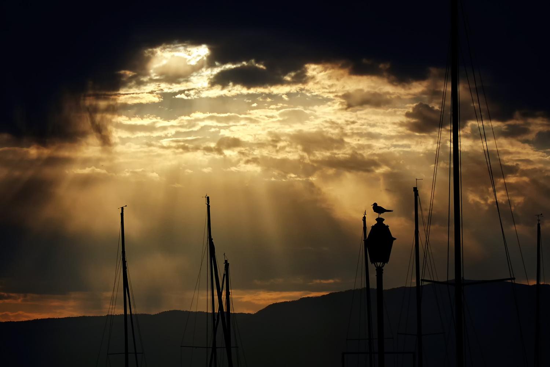 Sunset @ Lake by Georgy K