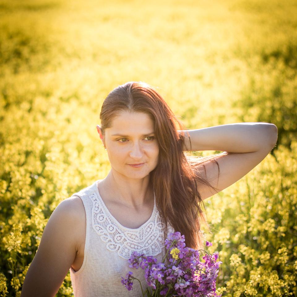 Girl in yellow flowers by Alekz Velic