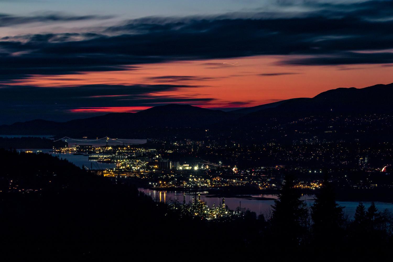 Sunset from Burnaby Mountain  by Sudipto Sarkar