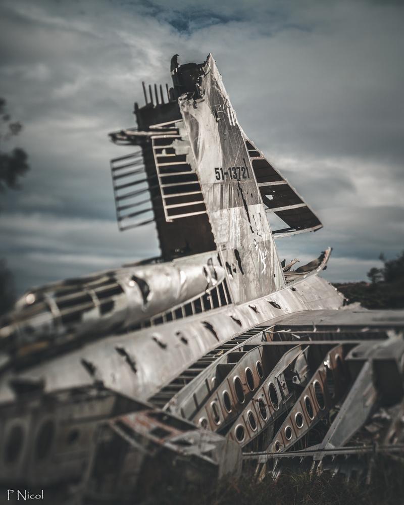 B-36 Peacemaker wreckage by Paul Nicol