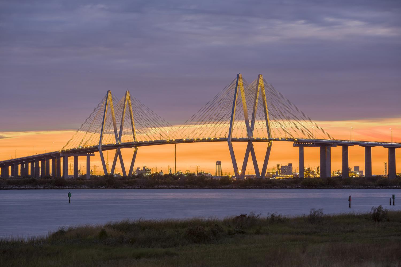 Fred Hartman Bridge by Daniel Angulo