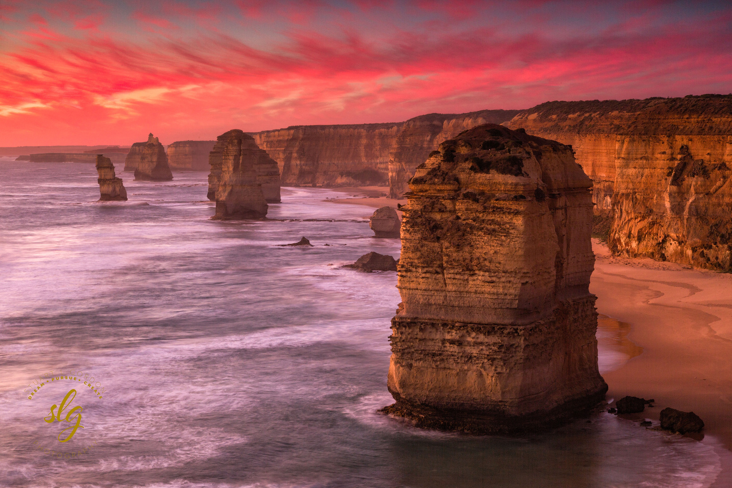 Sunset at the Apostles by Stuart Gordon