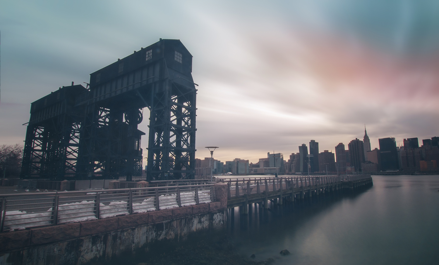 Gantry Cranes  by Mike Irving