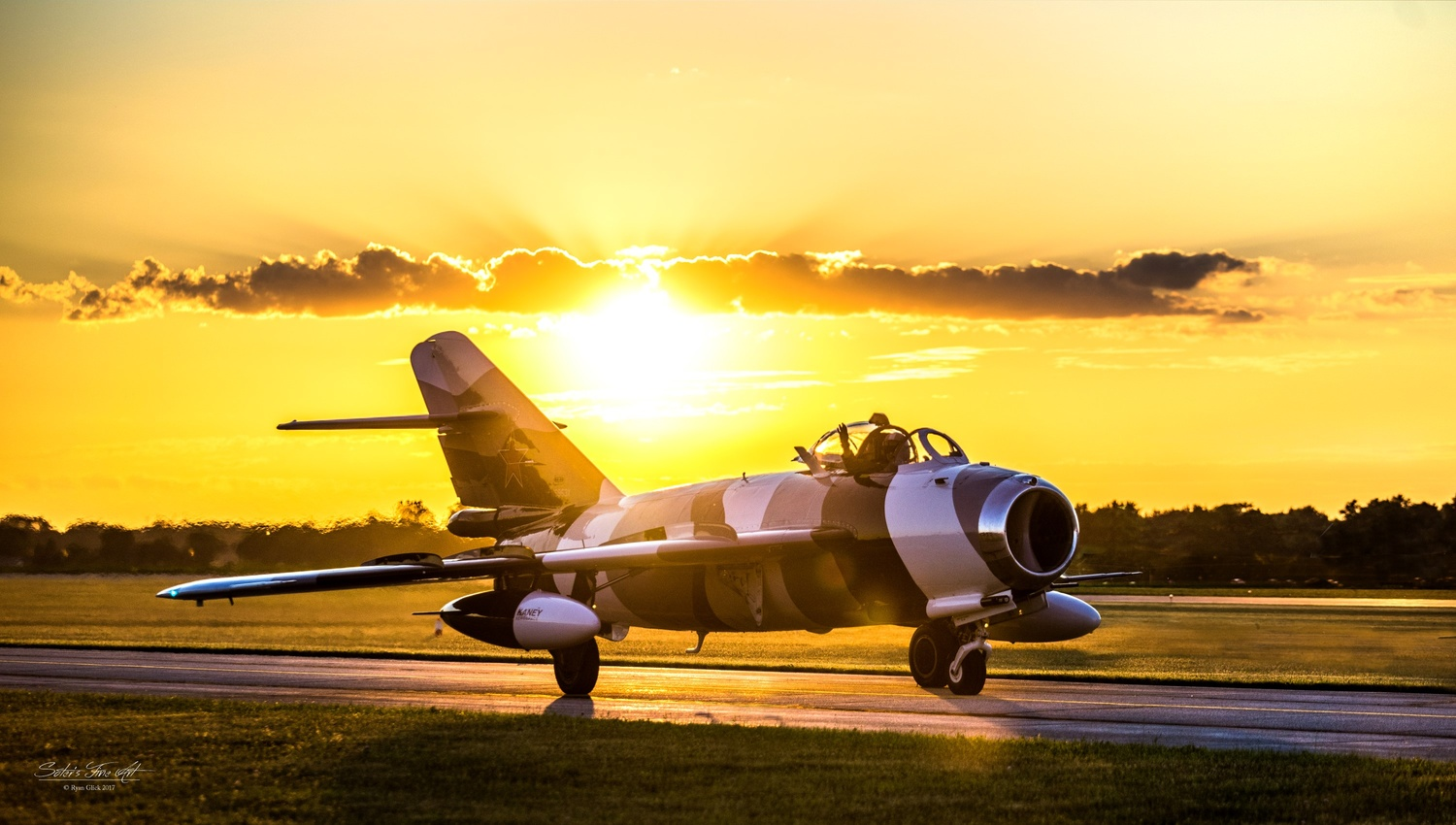 Mig 17 at Sunset by Ryan Glick