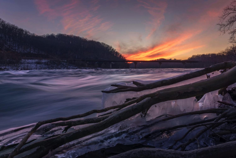 Warm winter sunset by David Stuckey
