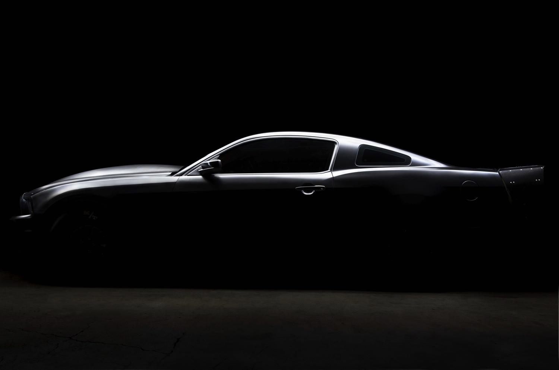 Matte Black Mustang by David Stuckey