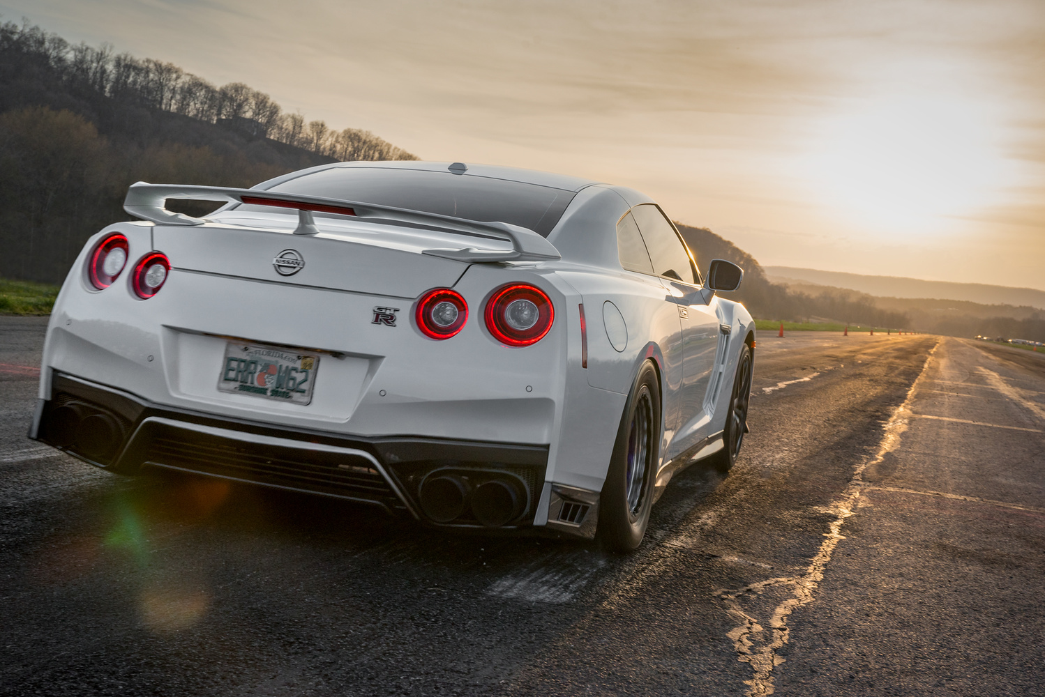 GTR launching into sunset by David Stuckey