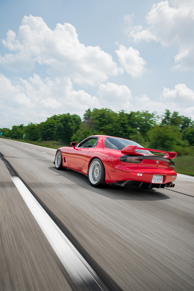 RX-7 Rolling Shot by David Stuckey