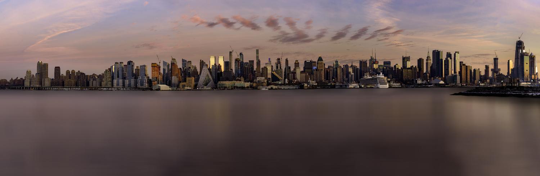 NYC Skyline from NJ by Annelin Hoff