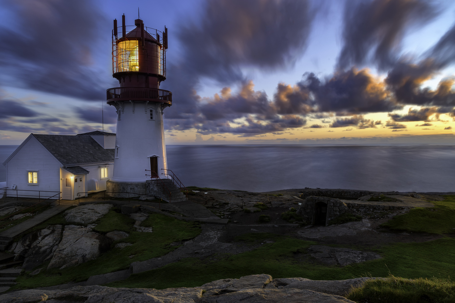 Lindesnes Lighthouse, Norway by Annelin Hoff