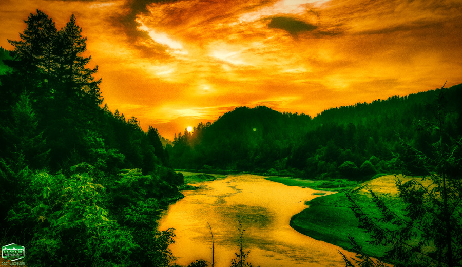 EMERALD RIVER VALLEY NUCLEAR APOCALYPSE: ROGUE RIVER SUNSET by Cody Jacobson